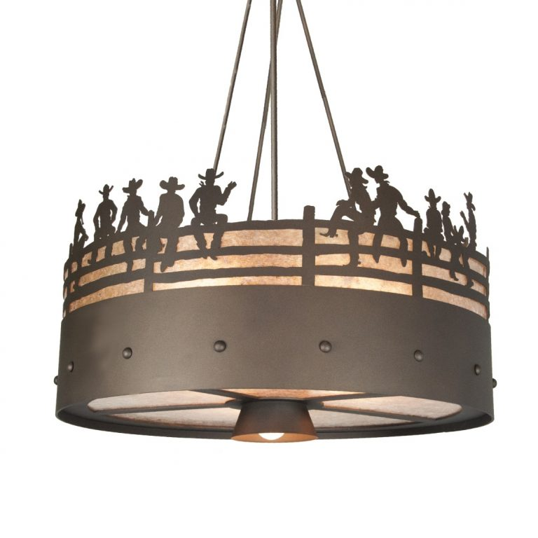 2067-Chandelier - ON THE FENCE Steel Partners Lighting Outfitters USA